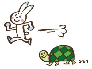 うさぎと亀