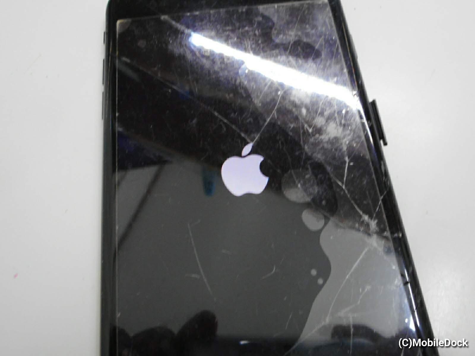 復旧したiPhon7plusの起動画面