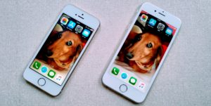 クローンコピーされたiPhoneのホーム画面